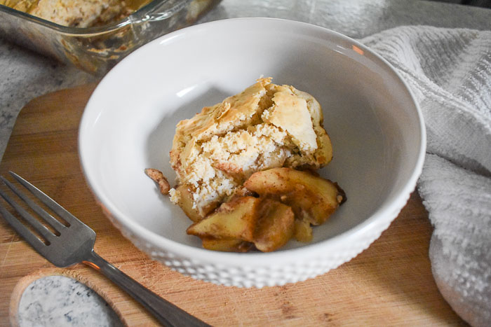 Simple Spiced Pear Cobbler (with Video)