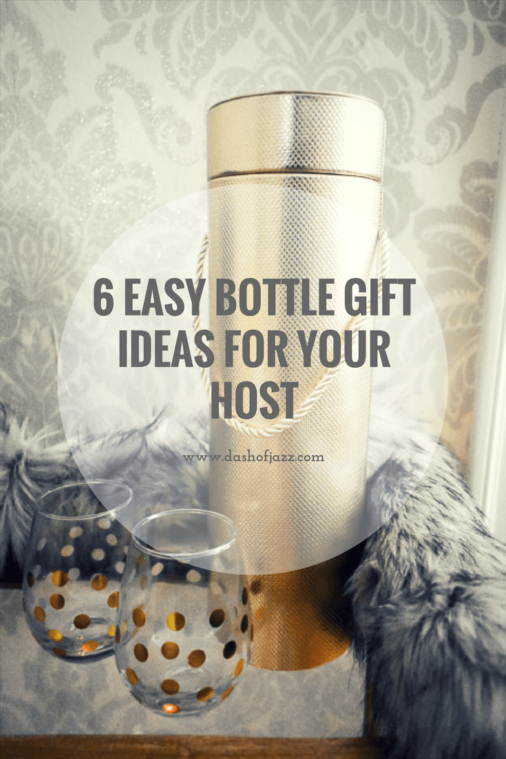 6 easy bottle gift ideas to elevate your next host or hostess gift complete with affordable product recommendations and relevant recipe inspiration. Guide by Dash of Jazz. #dashofjazzblog #bottlegiftwrapping #bottlegiftideas #hostessgiftideas #hostessgiftideashouseguest