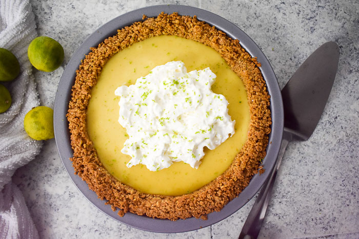 classic key lime pie and fresh limes