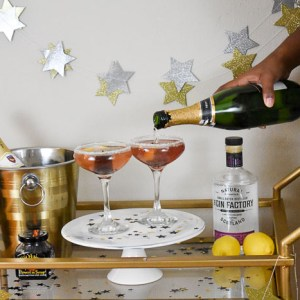 Hibiscus French 75 Cocktail + 3 Ways to Elevate a Glass of Champagne