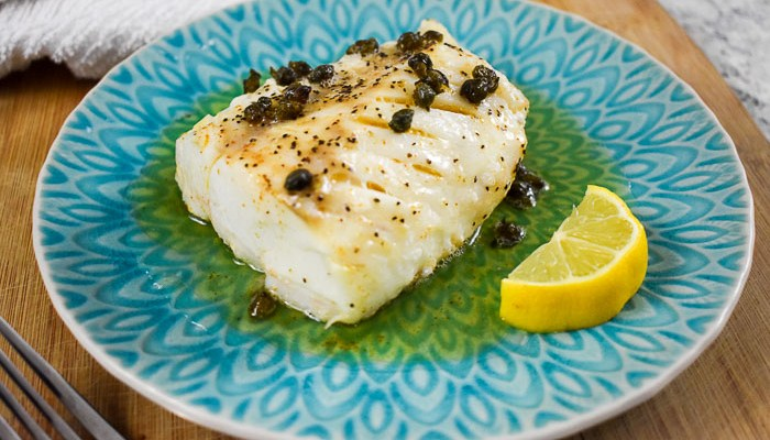 Brown Butter Cod with Capers