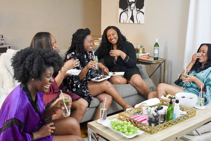 Host a Galentine's Spa Night