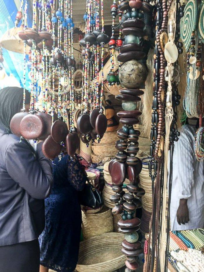 beads for sale at Lekki Market in Lagos, Nigeria