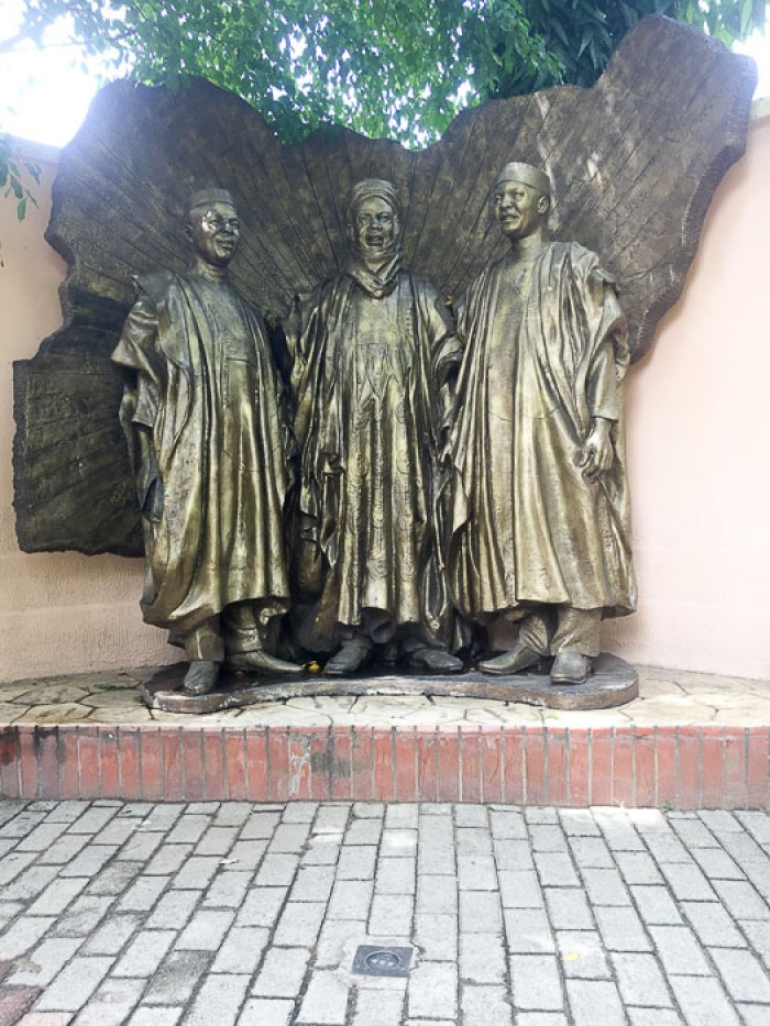 statue at Freedom Park in Lagos, Nigeria