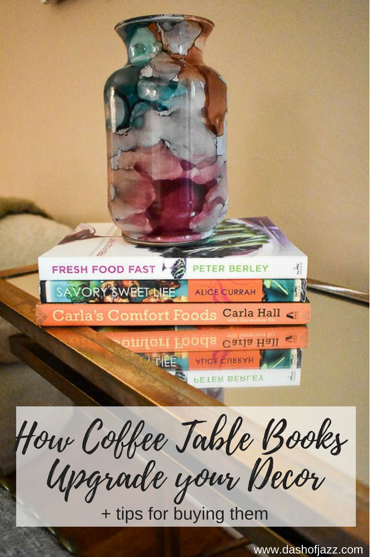 Tips and tricks for using coffee table books in your home decor no matter what your style or budget. #homedecor #femininedecor #homestyling