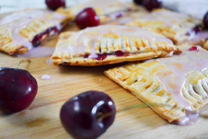 homemade cherry pop tarts and cherries