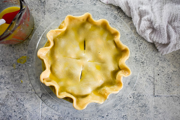 pie crust with egg wash