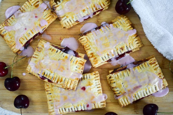Easy Homemade Cherry Pop Tarts with Cherry Icing
