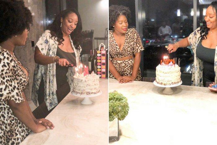 lighting birthday cake