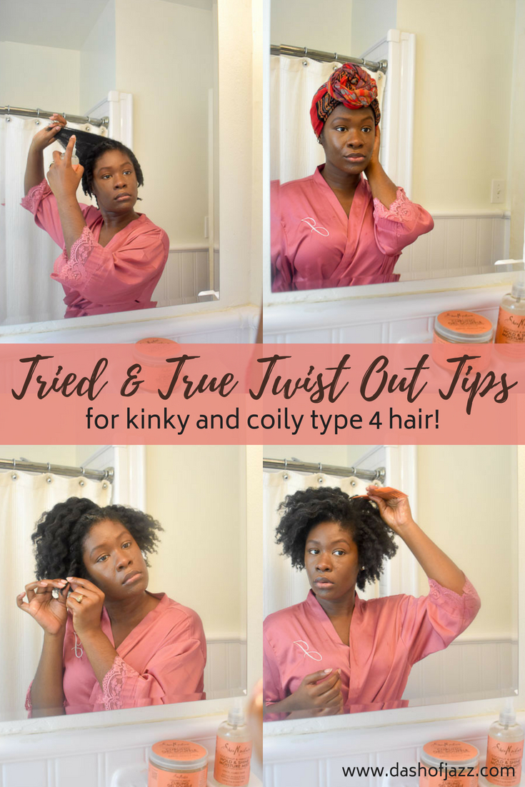 Check out this collection of product and technique recommendations for an easy and lasting twist out style on natural hair--especially coily and kinky type 4 hair and afro-textured hair! #naturalhaircare #twistouthairstyles #blackgirlmagic #type4hair #4chair #hairgoals #twostrandtwist #twistoutsonnaturalhair