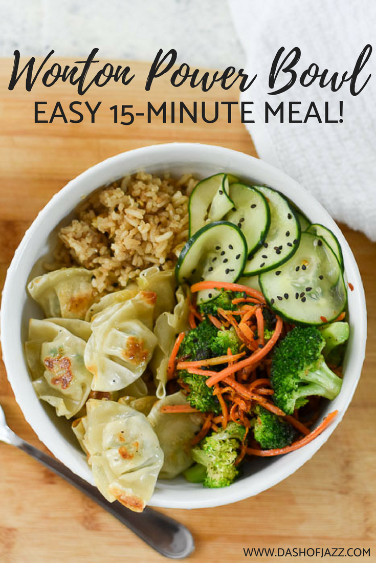 Make this easy and inspired power bowl with Asian flavors for dinner in just 15 minutes whenever you're tired of your same ol' same ol' but still want to eat well! Recipe by Dash of Jazz #quickdinner #mealprep #weeknightrecipe #powerbowl