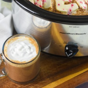 The Easiest Slow Cooker Peppermint Hot Cocoa