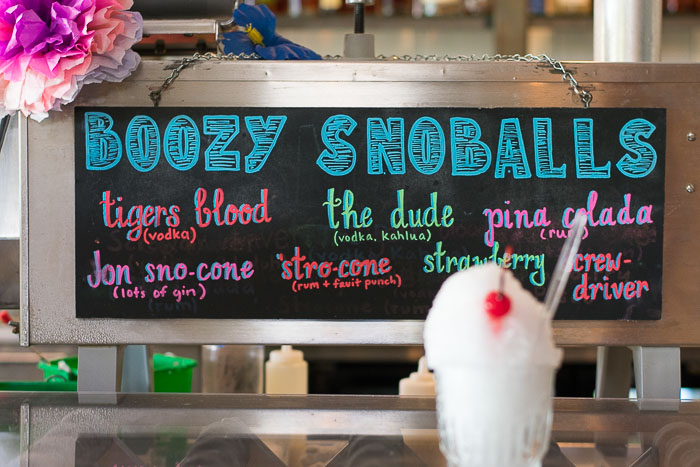 east end hardware boozy snoballs in Houston, TX