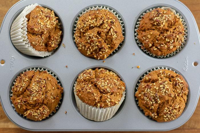Sweet Potato Gingerbread Muffins