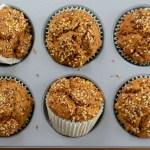 sweet potato gingerbread muffins in wilton muffin tin