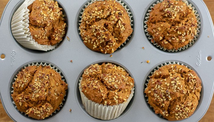 Sweet Potato Gingerbread Muffins