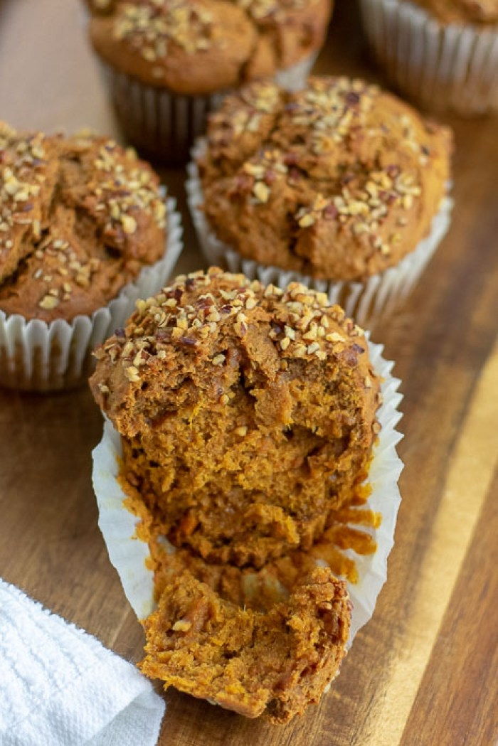 baked sweet potato gingerbread muffins