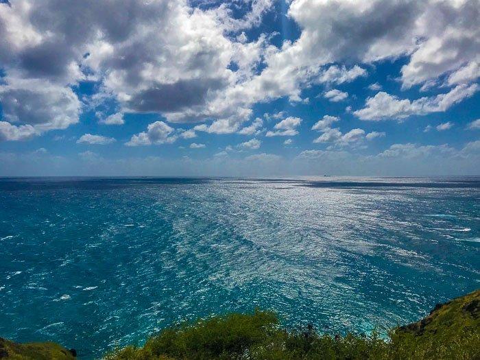 Ocen view along Makapu'u Lighthouse Trail Oahu Hawaii