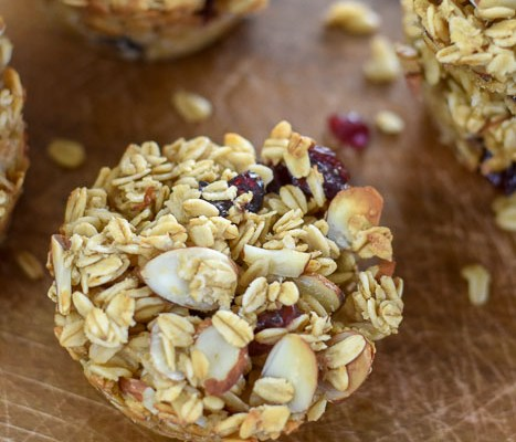 Make-Ahead Cranberry Almond Oatmeal Muffins