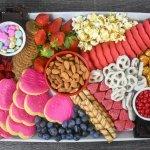 Valentine's Day themed dessert board