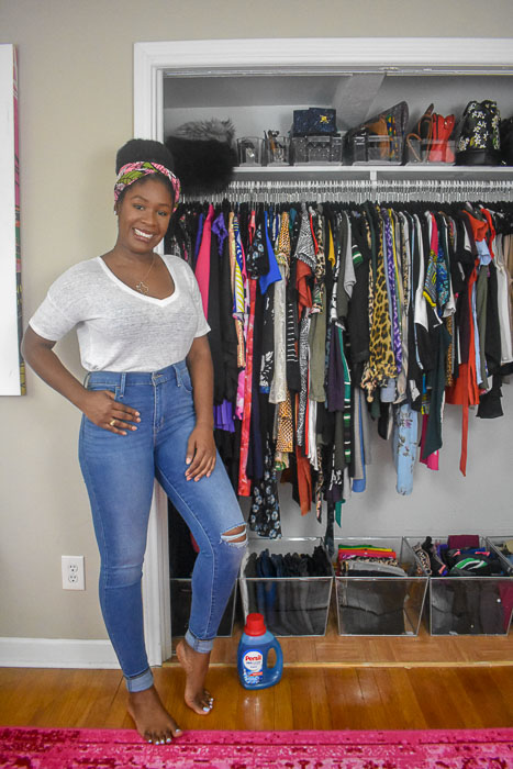 Dash of Jazz and organized clothes closet