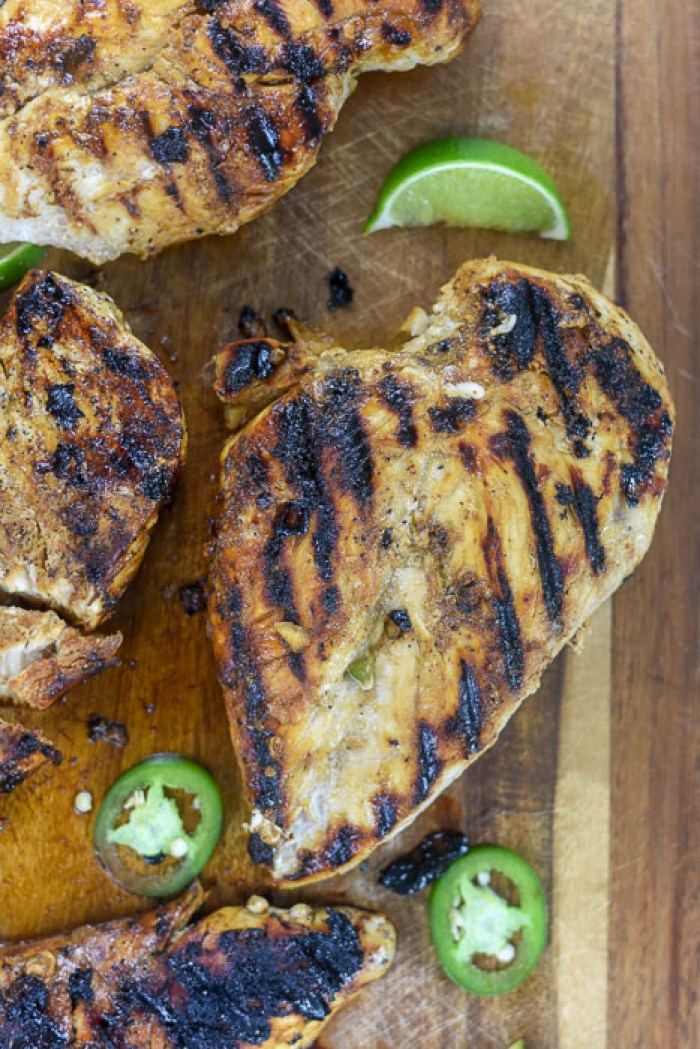 grilled honey jalapeno lime chicken breast