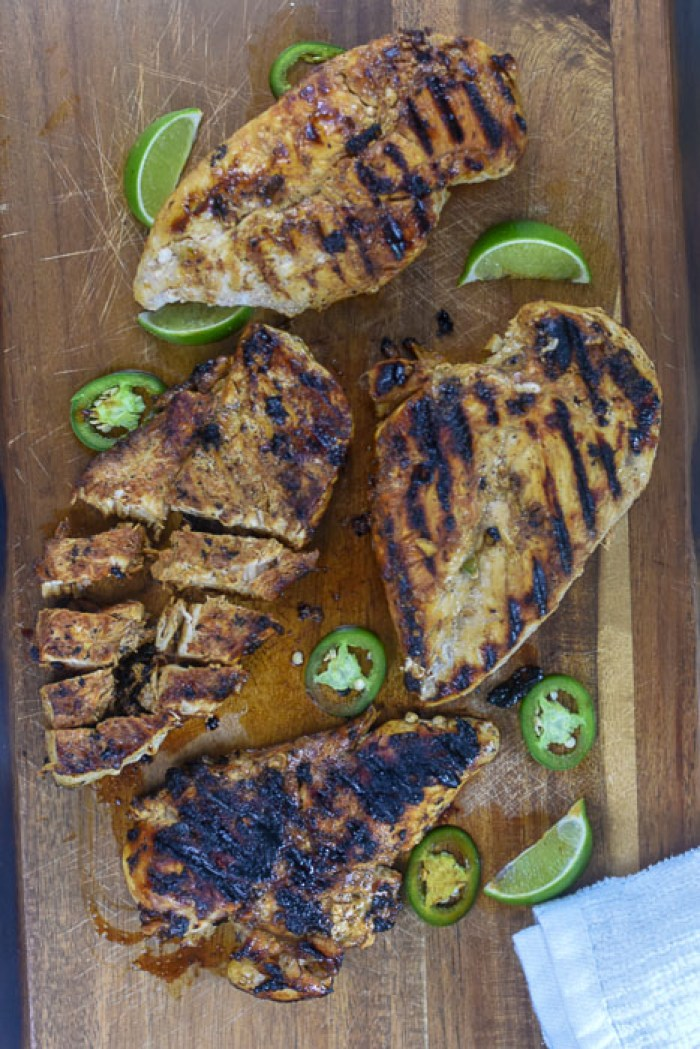 grilled chicken with jalapenos and lime