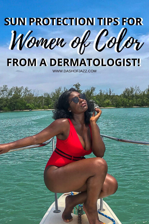 melanin rich woman on a boat