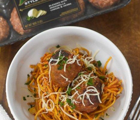 No-Boil Baked Spaghetti & Meatballs Dinner