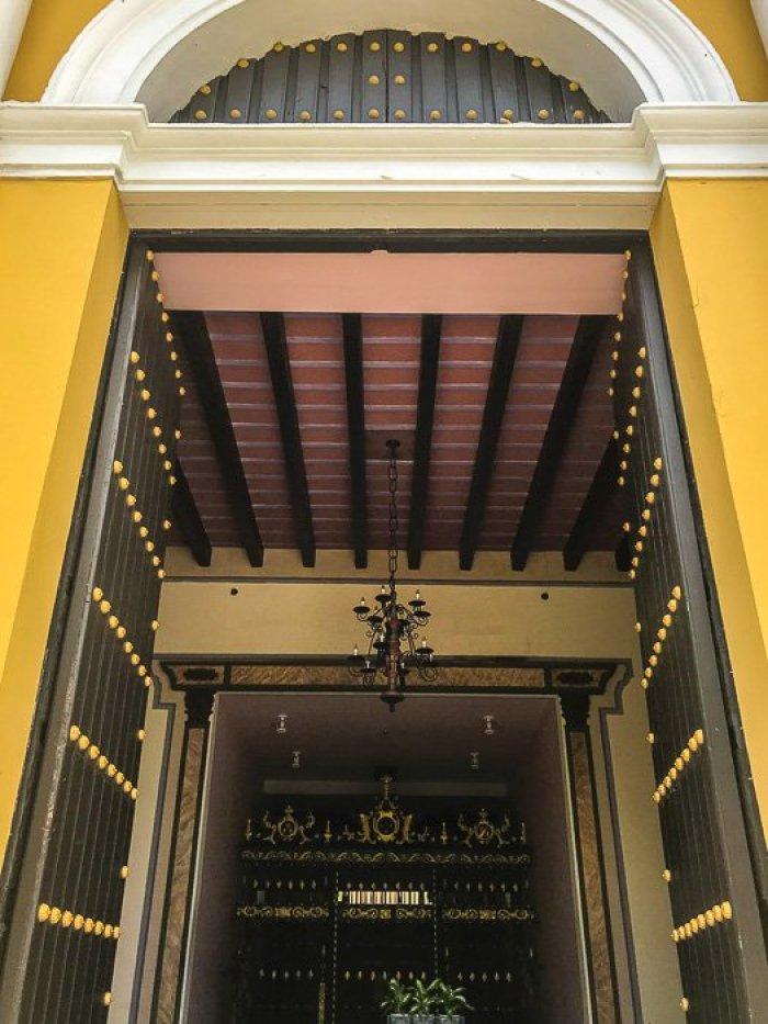 hotel archway in Old San Juan, Puerto Rico