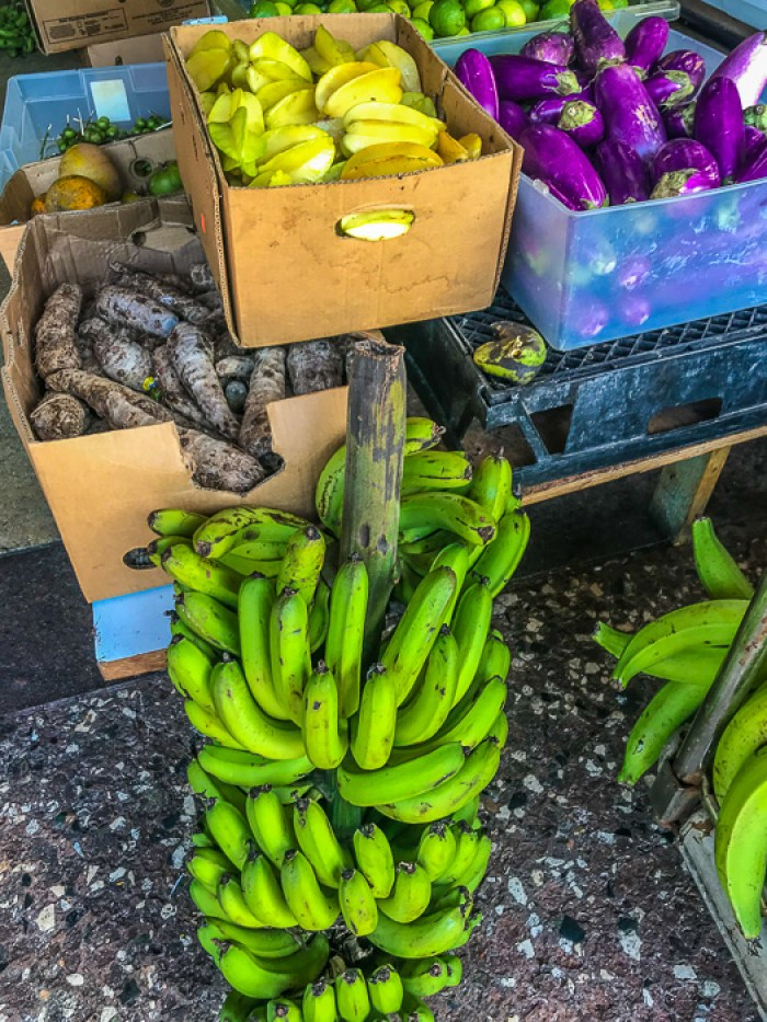 produce inside Plaza del Mercado, San Juan, Puerto Rico