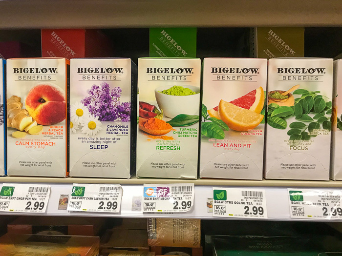 Bigelow Benefits Teas at Kroger