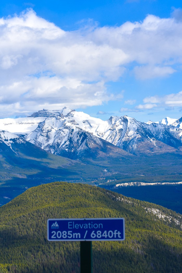 mountain views from Mount Norquay, Banff, Alberta