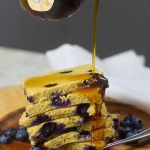 Kodiak Cakes Sheet Pan Blueberry Protein Pancakes
