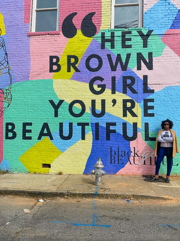 Hey Brown Girl Mural, 333 Peters St SW, Atlanta, GA