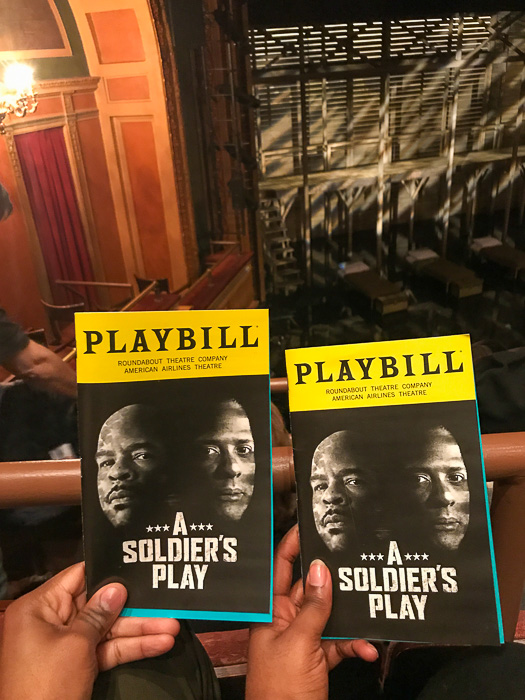 A Soldier's Play playbills