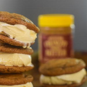 Cookie Butter Cookie Ice Cream Sandwiches