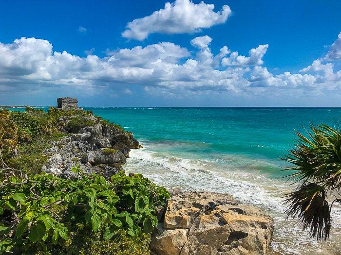 Hidden Beach at Tulum Mayan Ruins