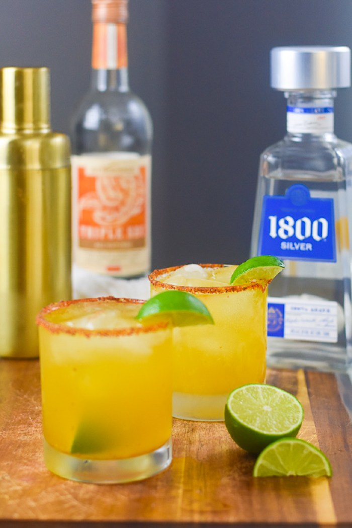 passion fruit margaritas with lime