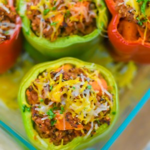 Easy Tex Mex Style Stuffed Peppers