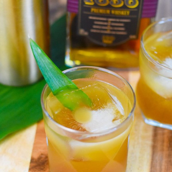 Brown Sugar Pineapple Whiskey Sipper