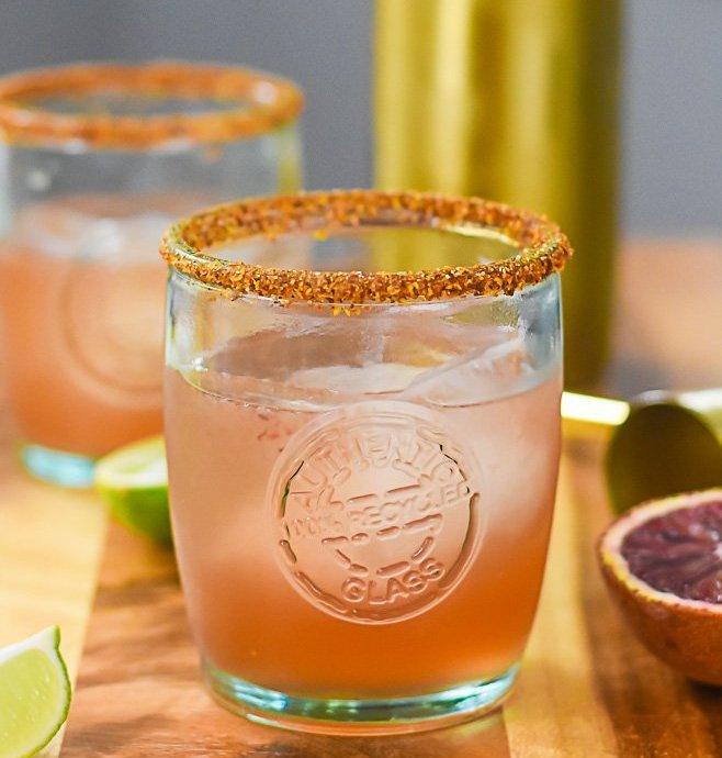 Smoky Blood Orange Mezcal Margarita