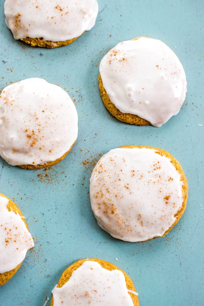 Iced Pumpkin Cookies above