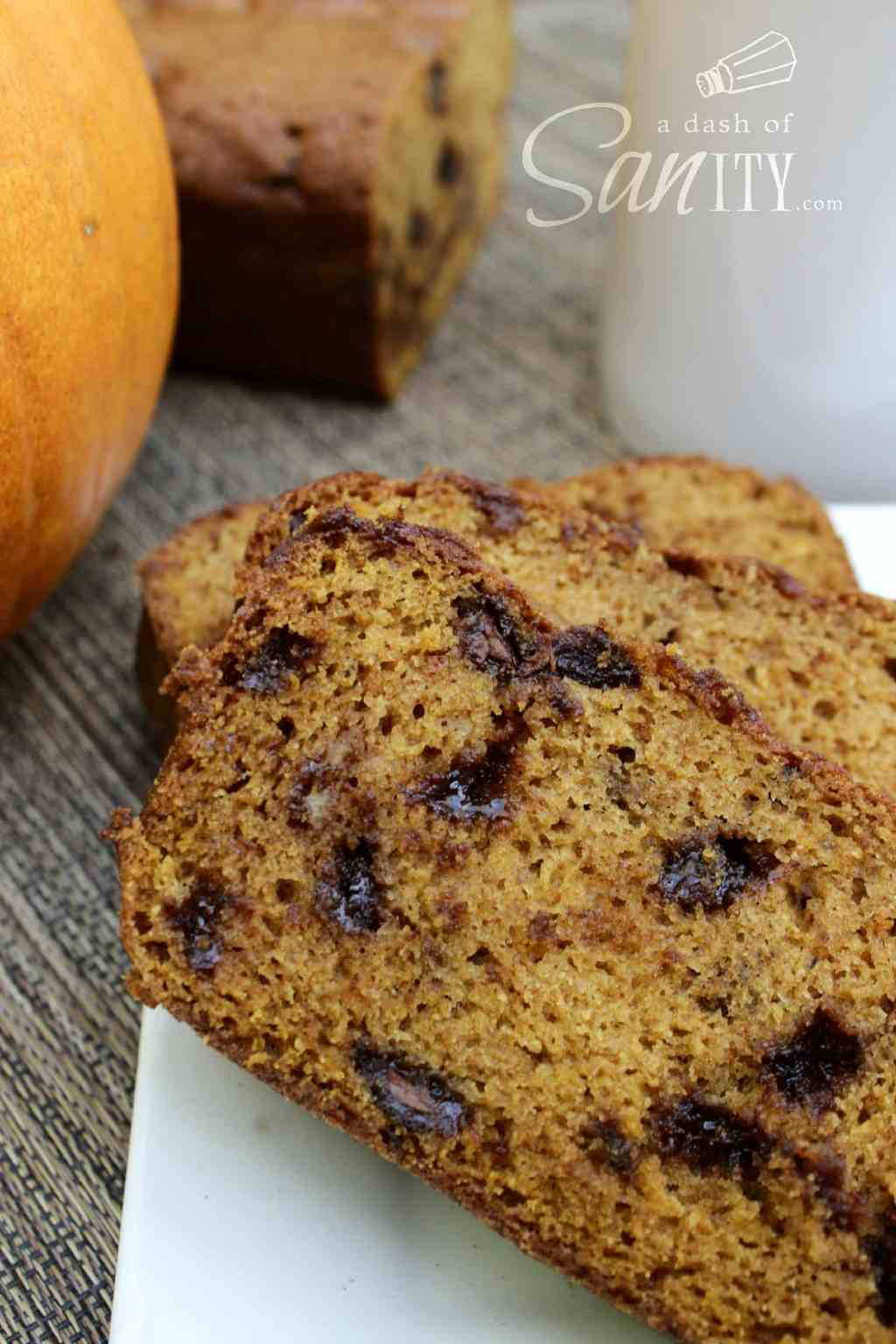 This Downeast Chocolate Chip Pumpkin Bread combines the warm taste of pumpkin with sweet and gooey chocolate chips, making a morning masterpiece.