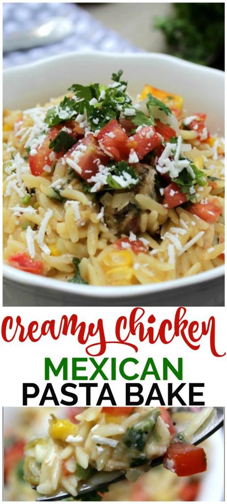 Creamy Chicken Mexican Pasta Bake pinterest image