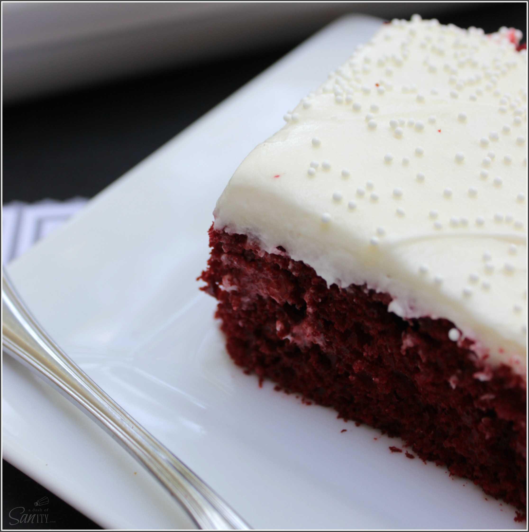 Easy Red Velvet Poke Cake