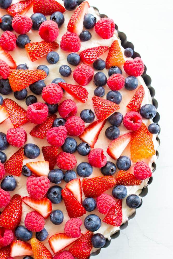 top view of No Bake Fruit Tart
