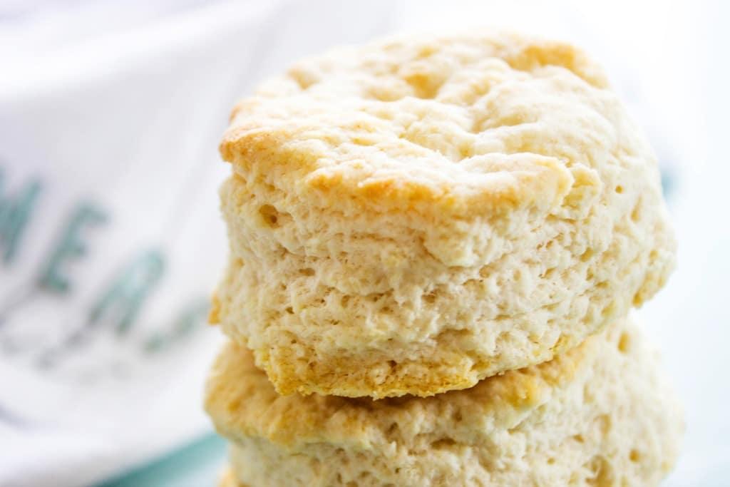 Copycat KFC Biscuits close up
