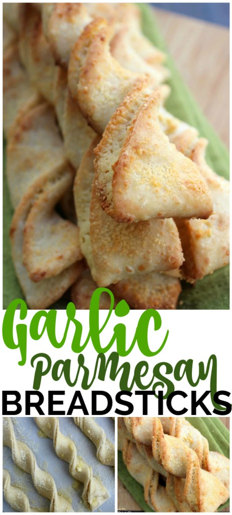 Easy Garlic Parmesan Breadsticks pinterest image