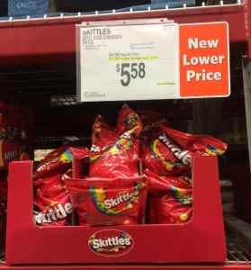 skittles on shelf